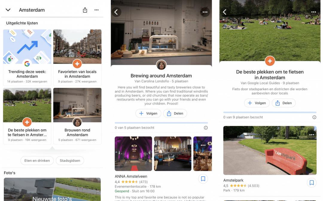 Google voegt meer ontdekking toe aan Google Maps met 'communityfeed'